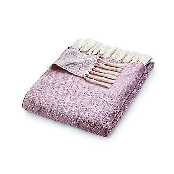 Hug rug omkeerbare geweven tralies gooien in roze