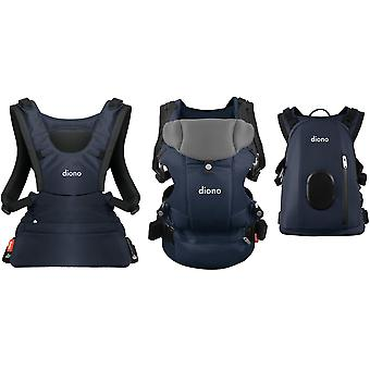 Diono Carus Complete 4 in 1 Front and Back Carrier with Backpack
