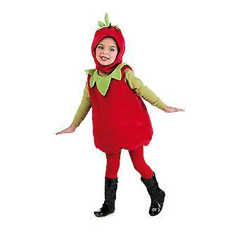 Traje de los niños de fresa lindo traje de los niños de la fruta