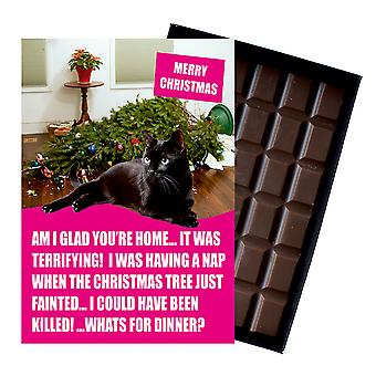 Black British Short Haired Cat Christmas Gifts Xmas Chocolate Present Cat Lovers From Oncocoa