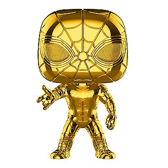 Marvel Studios 10th Anniversary Iron Spider Gold Chrome Pop!