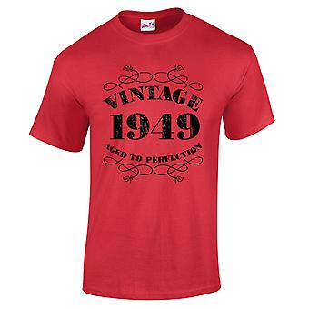 Men's 70th Birthday T-Shirt Vintage 1949 Novelty Gifts For Him