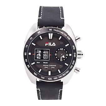 Fila Herren Uhr Armbanduhr DRUM ROLLER 38-846-001 Leder