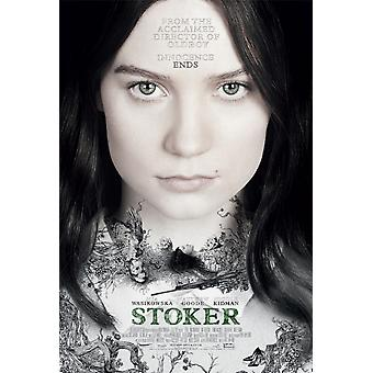 Stoker Poster Double Sided Style B (2013) Original Cinema Poster