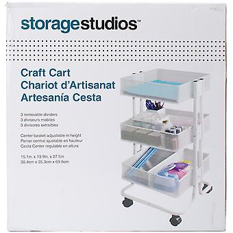 Storage Studios Rolling Craft Cart W/3 Bins-27.5