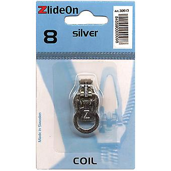 Zlideon Zipper Pull Replacements Coil 8 Silver 3061 3