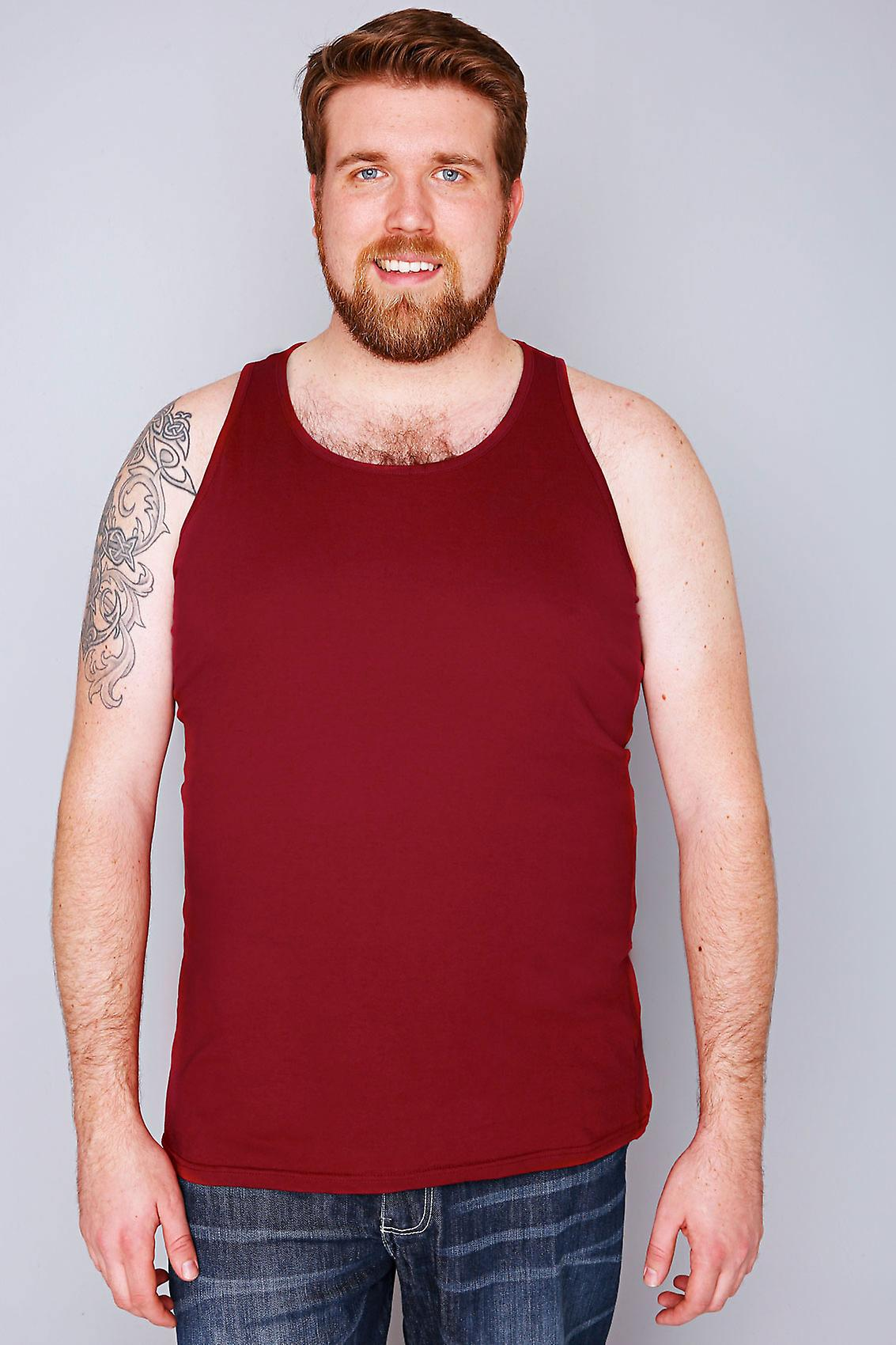 D555 Dark Red Crew Neck Vest