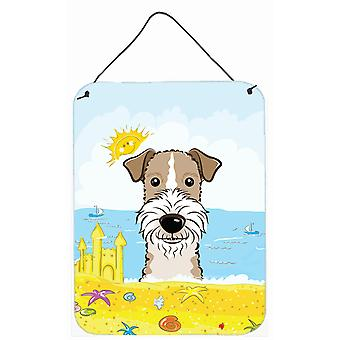 Wire Haired Fox Terrier Summer Beach Wall or Door Hanging Prints BB2115DS1216