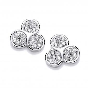 Cavendish French Triple Cubic Zirconia Stud Earrings