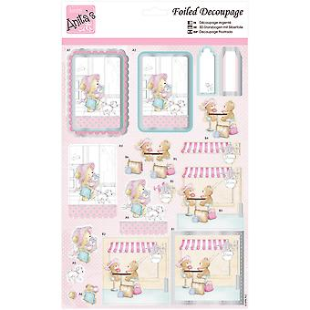 Anita's A4 Foiled Decoupage Sheet-Ladies That Lunch A169649