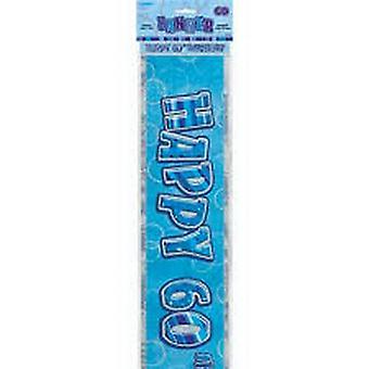 60TH BIRTHDAY BLUE BANNER
