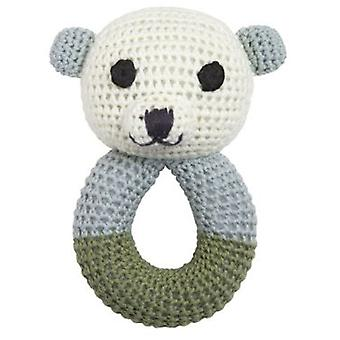 Franck & Fischer Sally polar bear rattle