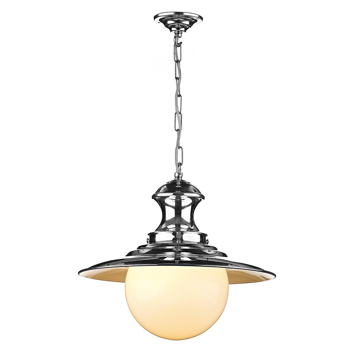 David Hunt EP50 Station Large Pendant Lamp In Polished Chrome
