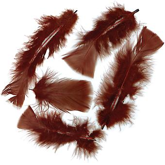 Flat Turkey Feathers 14g-Brown MD380-35