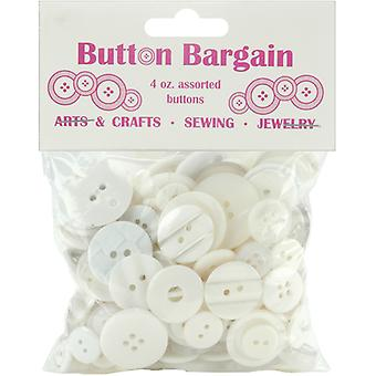 Button Bargain 4oz-Whites 20002