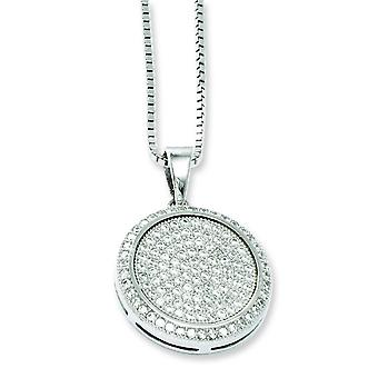 Sterling Silver and CZ Brilliant Embers Necklace - 18 Inch