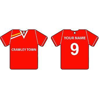 Ambientador de coche personalizado Crawley Town Football camiseta