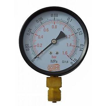 100mm 16 Bar Side Entry Manometer Pressure Gauge M20x1,5 + 1/2
