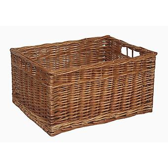 Double Steamed Open Wicker Storage Basket Large