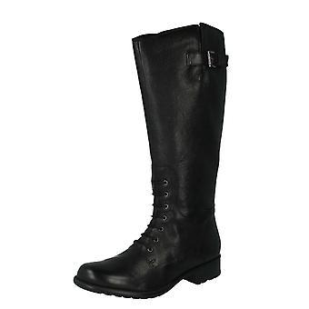 Ladies Clarks Knee Length Boots Mullin Clove