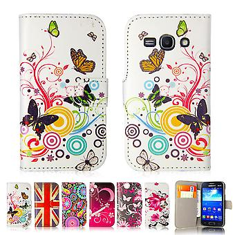 Design book PU leather case cover for Samsung Galaxy Ace 3 (s7270) - Colour Butterfly