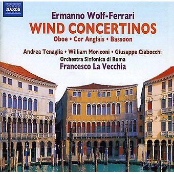 E. Wolf-Ferrari - Ermanno Wolf-Ferrari: Wind Concertinos [CD] USA import