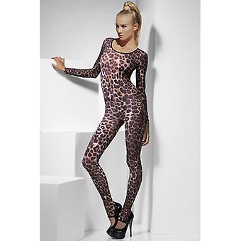 Stretchanzug sexy lingerie sexy catsuit completo del corpo del ghepardo leopardo