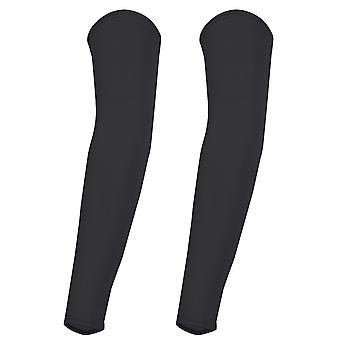 TRIXES Black Lycra Unisex Bike Sleeves Skin Compress and Protect