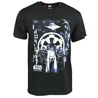 Star Wars Mens Star Wars Rogue One Imperial T Shirt Black
