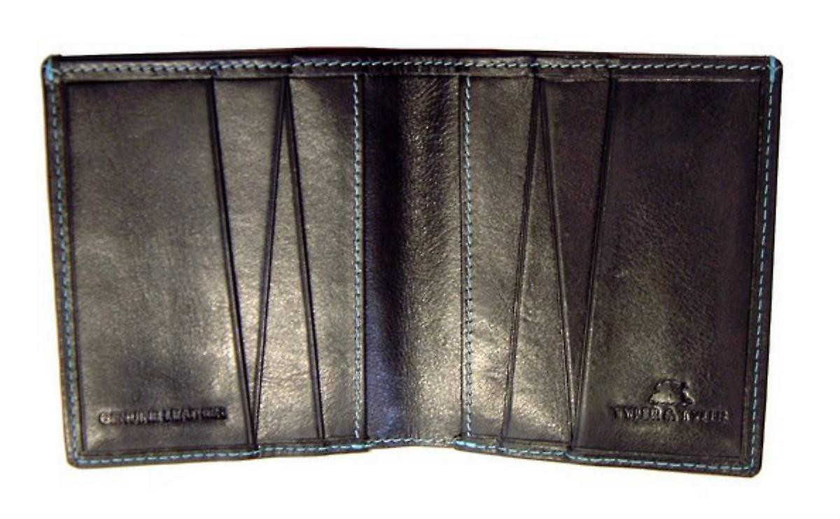 Tyler and Tyler Leather Rutting Stags Jeans Wallet - Black