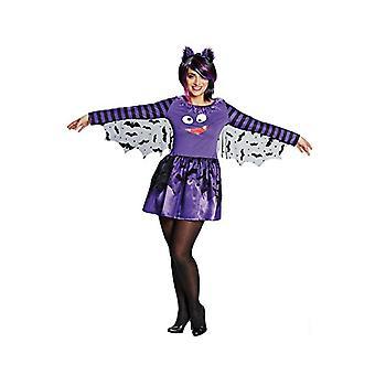 Vrouwen kostuums vleermuis jurk paars