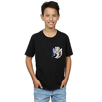 Looney Tunes Boys Pepe Le Pew Face Faux Pocket T-Shirt