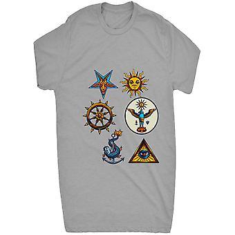 Gerenommeerde toppen zonsondergang Illuminati