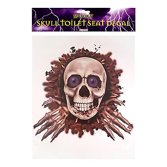 Halloween Spooky Skull/ Skeleton Toilet Seat Decoration Party Accessory