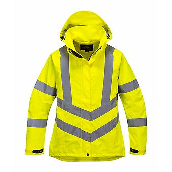 Portwest - Ladies Hi-Vis Safety Workwear Breathable Jacket With Hood