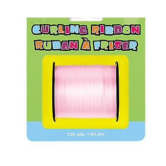 91m Pastel Pink Curling Ribbon - 5mm Wide   Gift Wrap Supplies