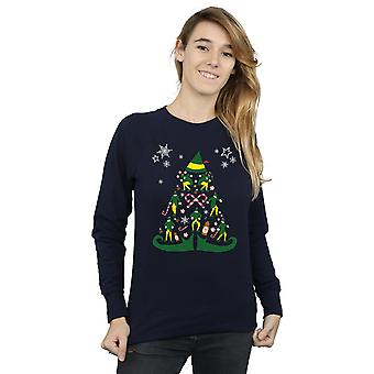 Elf Women's Christmas Tree Sweatshirt