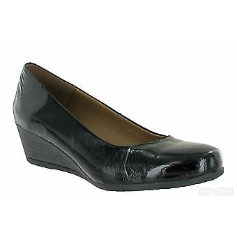 Riva Womens/Ladies Nadone Plain Wedge Heel Court Shoes