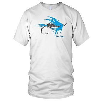 Vliegvisser vliegen jongen Mens T Shirt