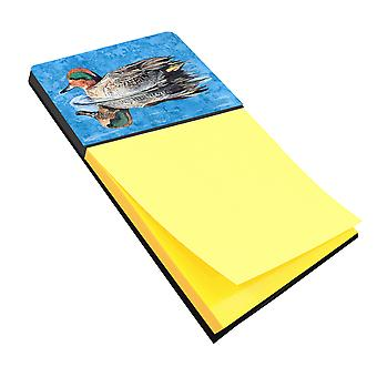 Teal Duck Refiillable Sticky Note Holder or Postit Note Dispenser