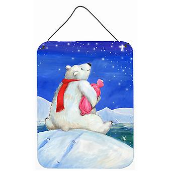 Polar Bear with Hot Water Bottle Wall or Door Hanging Prints