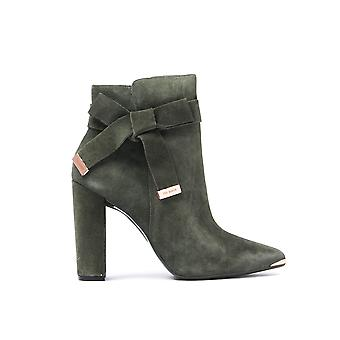 Women's Sailly Ankle Boots - Khaki Suede