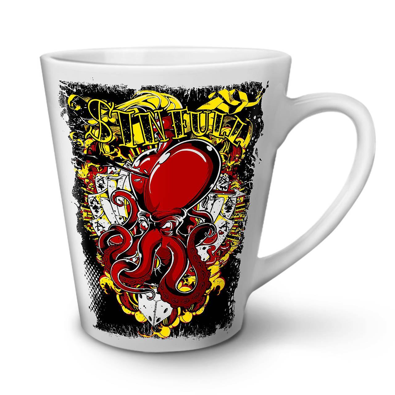 Card 12 White Sinful Gamble New Tea Mug Ceramic Latte Poker OzWellcoda Coffee LSpMzqjVGU