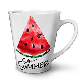 Sweet Summer Bite NEW White Tea Coffee Ceramic Latte Mug 17 oz | Wellcoda