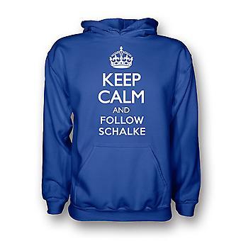 Mantenere la calma e seguire Schalke Hoody (blu)