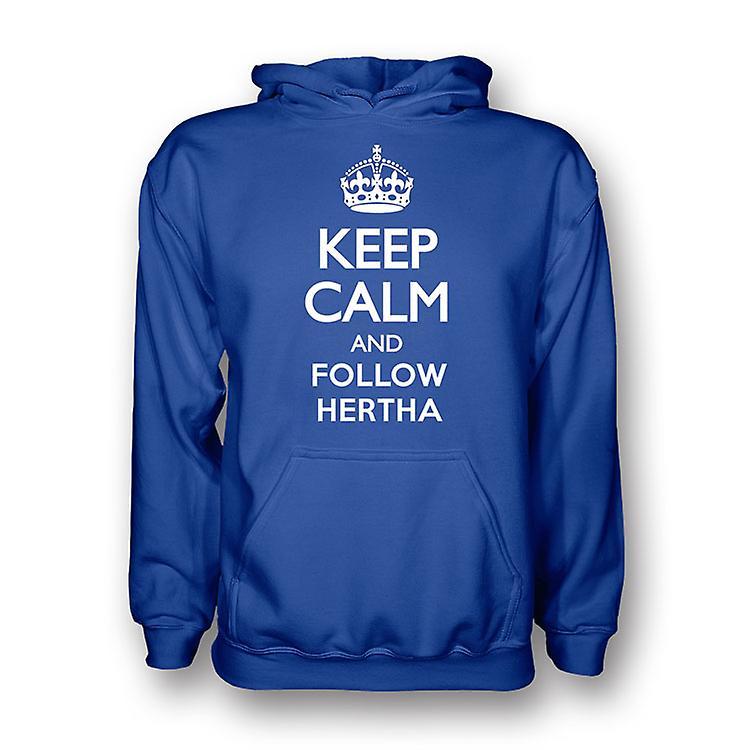 Keep Calm And Follow Hertha Berlin Hoody (blue) - Kids