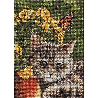 Afternoon Nap Mini Counted Cross Stitch Kit-5