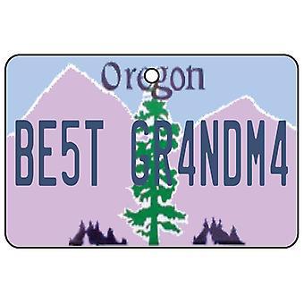 Oregon - Best Grandma License Plate Car Air Freshener