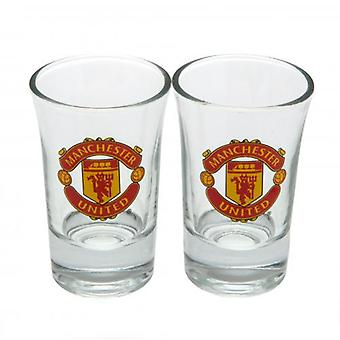 Manchester United 2pk Shot Glass Set