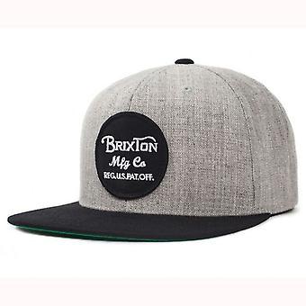 Brixton Wheeler Snapback Cap - Heather lysegrå / sort